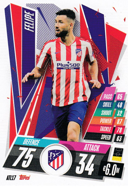 #ATL17 Felipe (Atlético de Madrid) Match Attax Champions League 2020/21