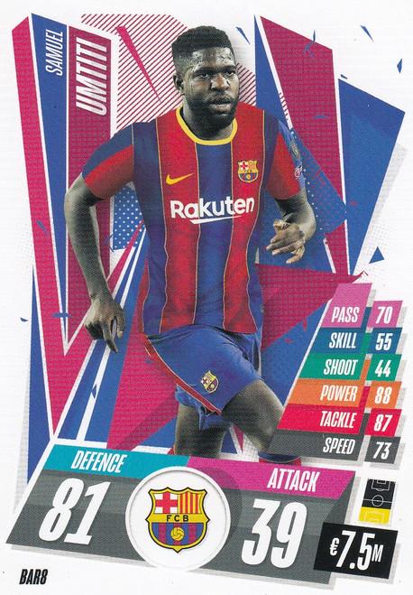 #BAR8 Samuel Umtiti (FC Barcelona) Match Attax Champions League 2020/21