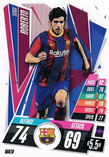#BAR10 Sergi Roberto (FC Barcelona) Match Attax Champions League 2020/21