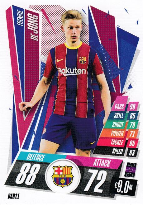 #BAR11 Frenkie De Jong (FC Barcelona) Match Attax Champions League 2020/21