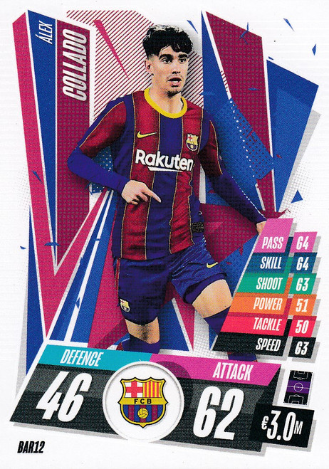 #BAR12 Alex Collado (FC Barcelona) Match Attax Champions League 2020/21