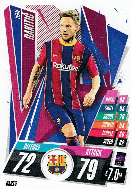 #BAR13 Ivan Rakitic (FC Barcelona) Match Attax Champions League 2020/21