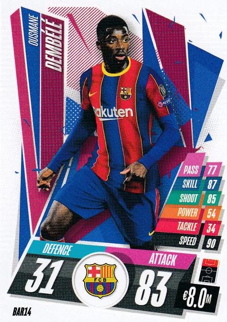 #BAR14 Ousmane Dembele (FC Barcelona) Match Attax Champions League 2020/21
