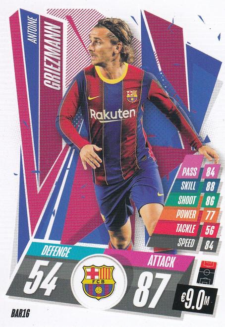 #BAR16 Antoine Griezmann (FC Barcelona) Match Attax Champions League 2020/21