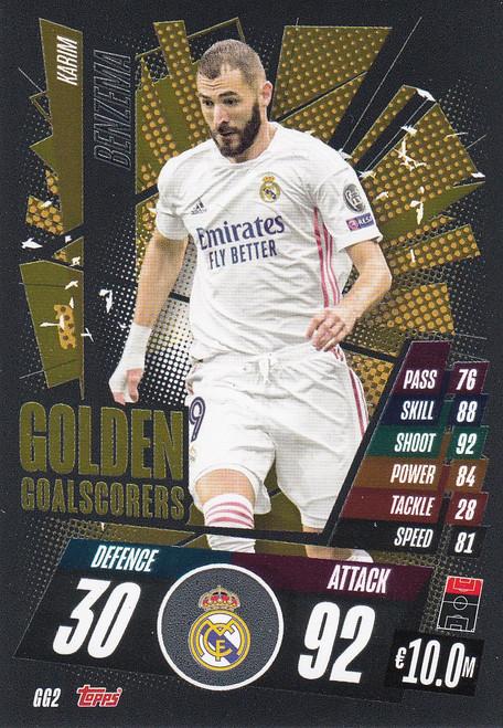 #GG2 Karim Benzema (Real Madrid CF) Match Attax Champions League 2020/21 GOLDEN GOALSCORERS