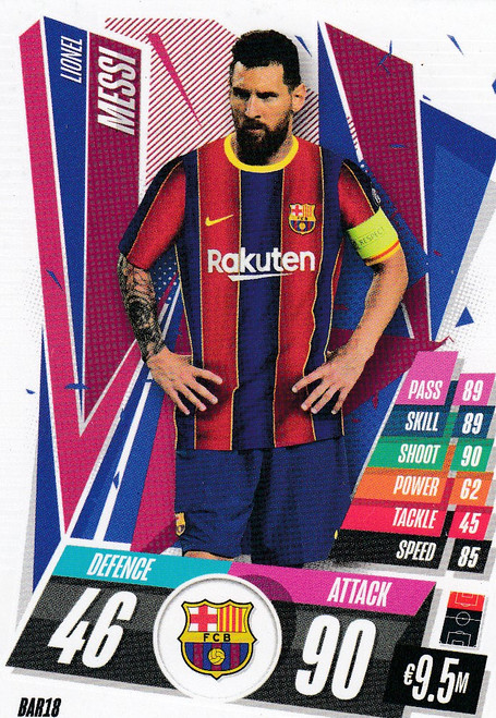 #BAR18 Lionel Messi (FC Barcelona) Match Attax Champions League 2020/21