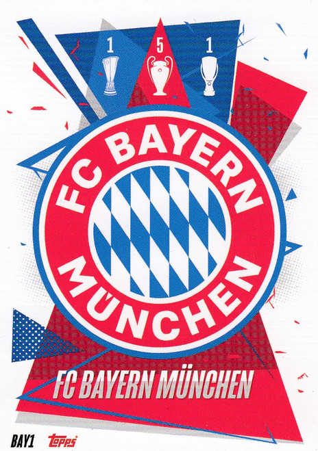 #BAY1 Club Badge (FC Bayern Munchen) Match Attax Champions League 2020/21