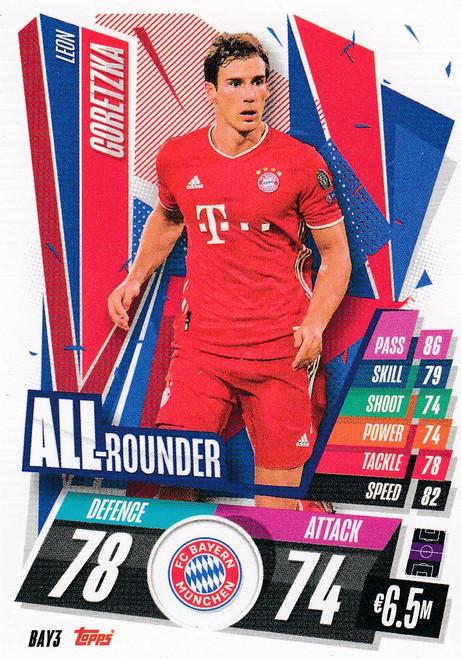 #BAY3 Leon Goretzka (FC Bayern Munchen) Match Attax Champions League 2020/21 ALL ROUNDER