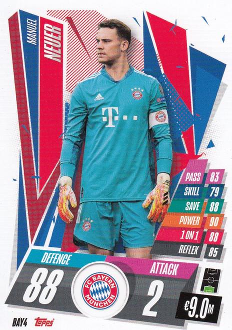 #BAY4 Manuel Neuer (FC Bayern Munchen) Match Attax Champions League 2020/21