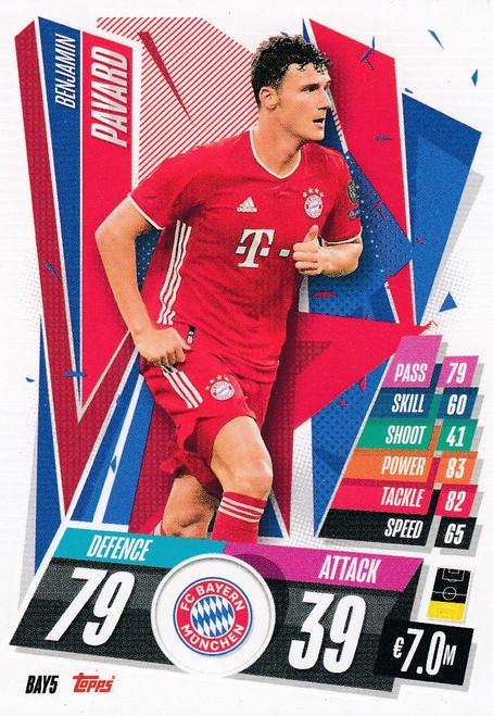 #BAY5 Benjamin Pavard (FC Bayern Munchen) Match Attax Champions League 2020/21