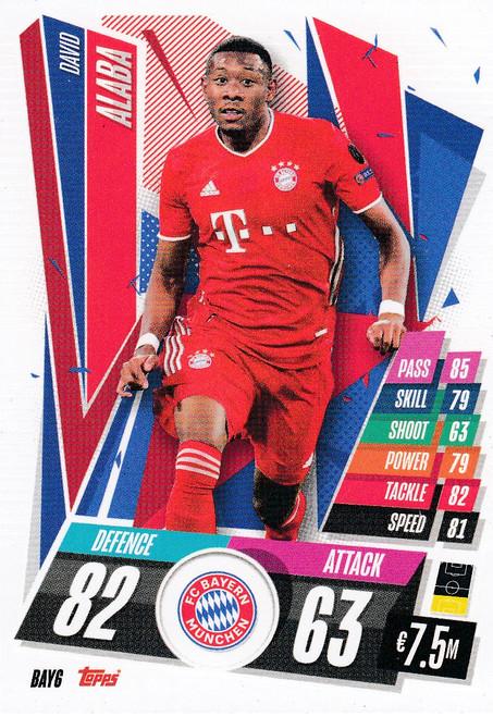 #BAY6 David Alaba (FC Bayern Munchen) Match Attax Champions League 2020/21