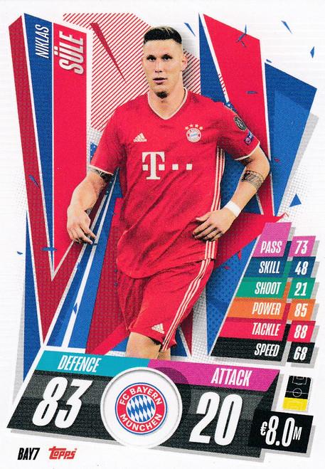 #BAY7 Niklas Sule (FC Bayern Munchen) Match Attax Champions League 2020/21