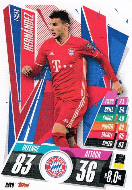#BAY8 Lucas Hernandez (FC Bayern Munchen) Match Attax Champions League 2020/21