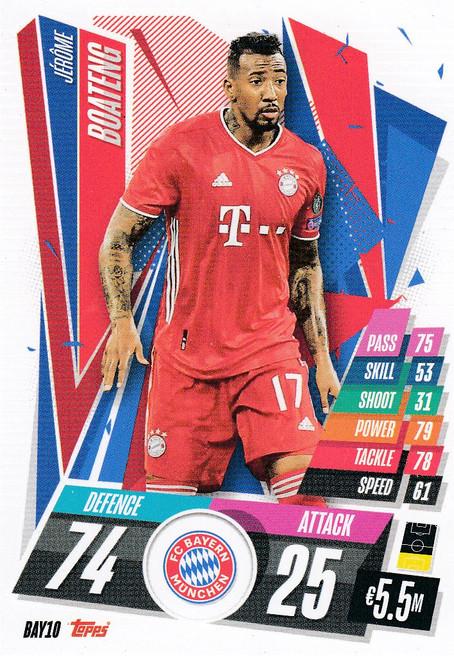 #BAY10 Jerome Boateng (FC Bayern Munchen) Match Attax Champions League 2020/21