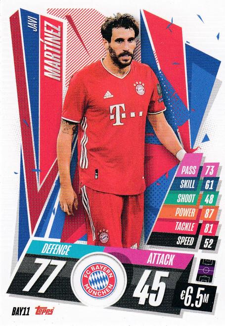 #BAY11 Javi Martinez (FC Bayern Munchen) Match Attax Champions League 2020/21