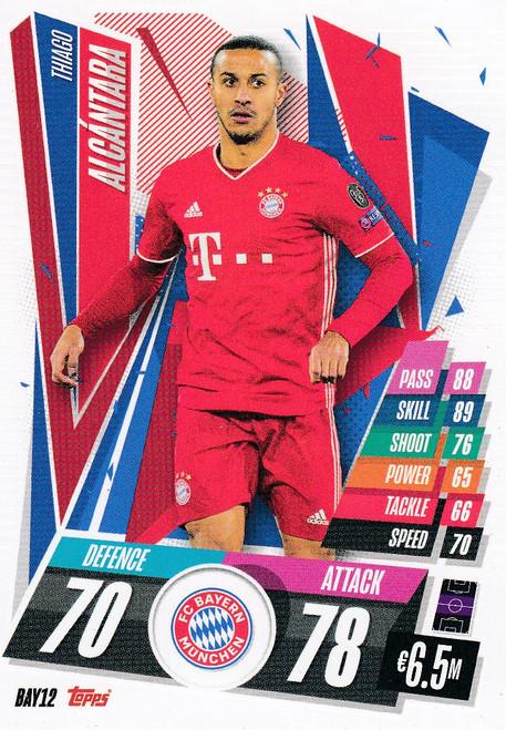 #BAY12 Thiago Alcantara (FC Bayern Munchen) Match Attax Champions League 2020/21