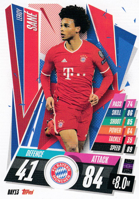 #BAY13 Leroy Sane (FC Bayern Munchen) Match Attax Champions League 2020/21