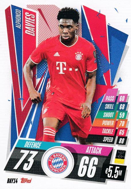 #BAY14 Alphonso Davies (FC Bayern Munchen) Match Attax Champions League 2020/21