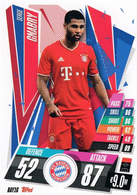 #BAY16 Serge Gnabry (FC Bayern Munchen) Match Attax Champions League 2020/21
