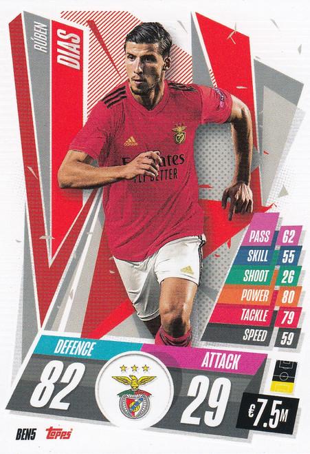 #BEN5 Ruben Dias (SL Benfica) Match Attax Champions League 2020/21