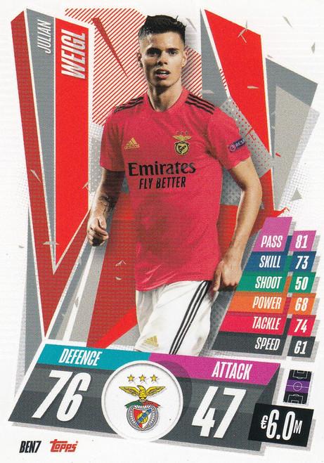 #BEN7 Julian Weigl (SL Benfica) Match Attax Champions League 2020/21