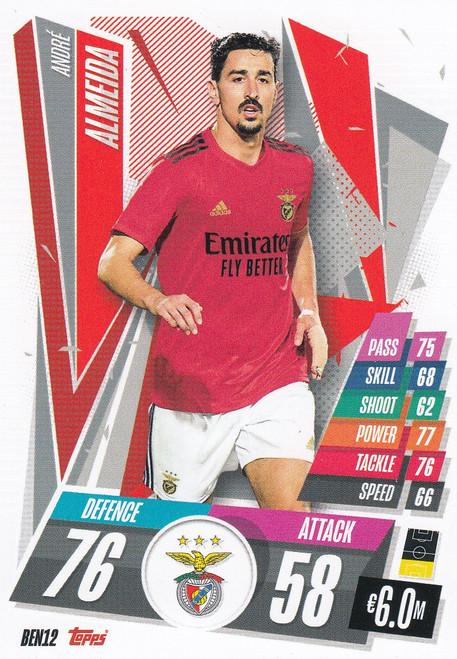 #BEN12 André Almeida (SL Benfica) Match Attax Champions League 2020/21