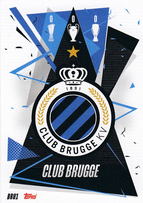 #BRU1 Club Badge (Club Brugge) Match Attax Champions League 2020/21