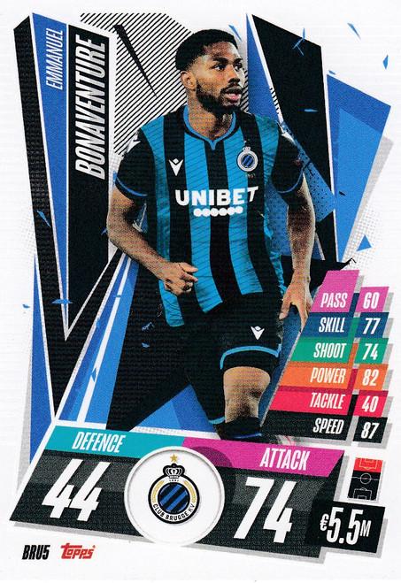 #BRU5 Emmanuel Bonaventure (Club Brugge) Match Attax Champions League 2020/21