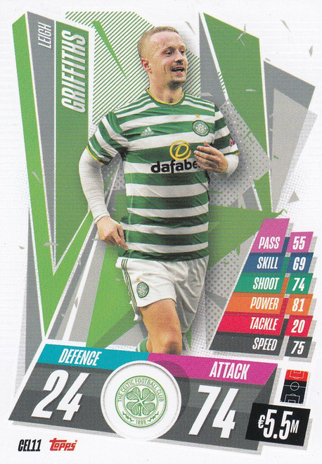 #CEL11 Leigh Griffiths (Celtic FC) Match Attax Champions League 2020/21