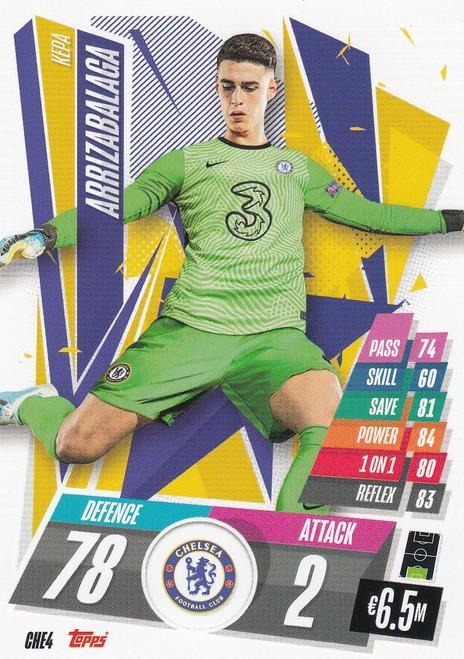 #CHE4 Kepa Arrizabalaga (Chelsea FC) Match Attax Champions League 2020/21