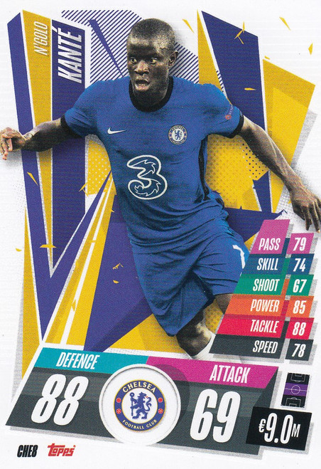 #CHE8 N'Golo Kante (Chelsea FC) Match Attax Champions League 2020/21