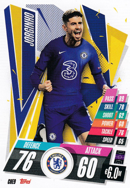 #CHE9 Jorginho (Chelsea FC) Match Attax Champions League 2020/21
