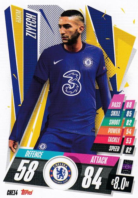 #CHE14 Hakim Ziyech (Chelsea FC) Match Attax Champions League 2020/21