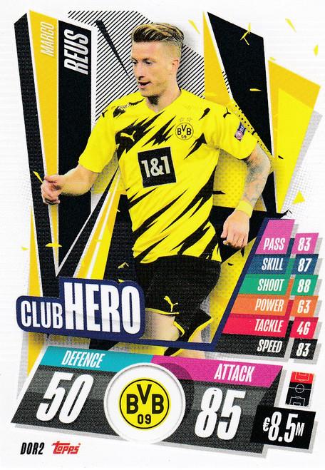#DOR2 Marco Reus (Borussia Dortmund) Match Attax Champions League 2020/21 CLUB HERO