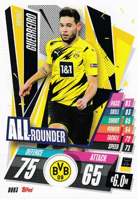 #DOR3 Raphaël Guerreiro (Borussia Dortmund) Match Attax Champions League 2020/21 ALL ROUNDER