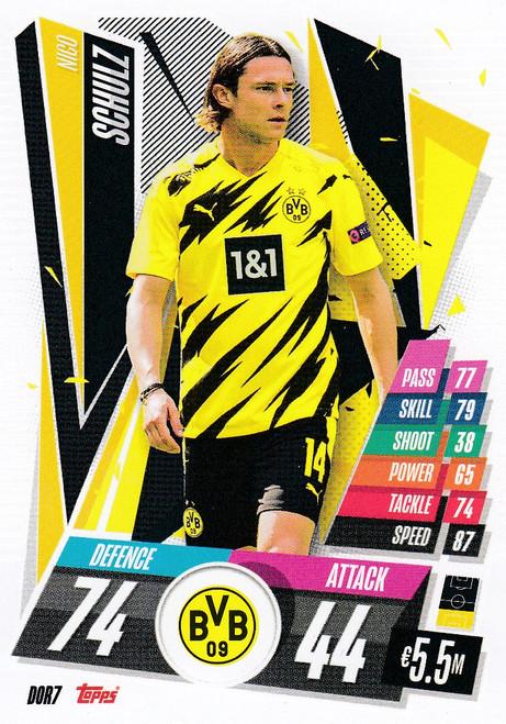 #DOR7 Nico Schulz (Borussia Dortmund) Match Attax Champions League 2020/21