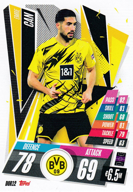 #DOR12 Emre Can (Borussia Dortmund) Match Attax Champions League 2020/21