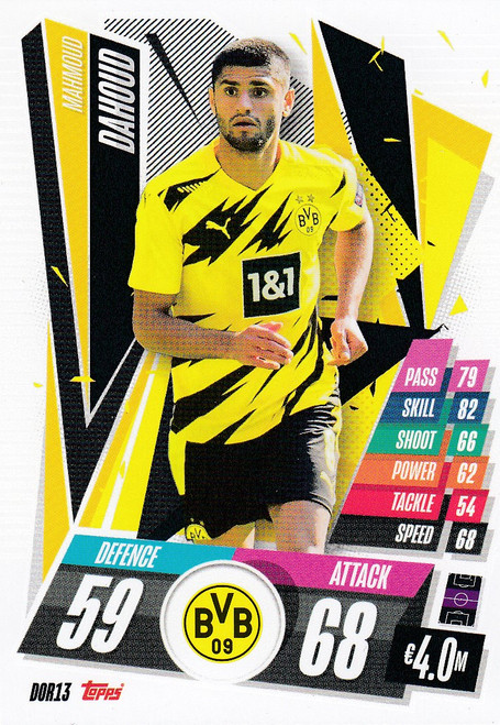 #DOR13 Mahmoud Dahoud (Borussia Dortmund) Match Attax Champions League 2020/21