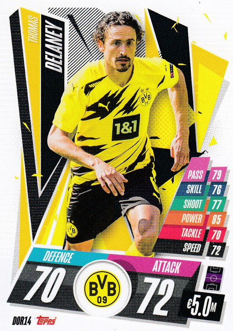 #DOR14 Thomas Delaney (Borussia Dortmund) Match Attax Champions League 2020/21