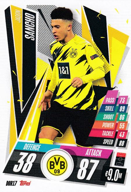 #DOR17 Jadon Sancho (Borussia Dortmund) Match Attax Champions League 2020/21