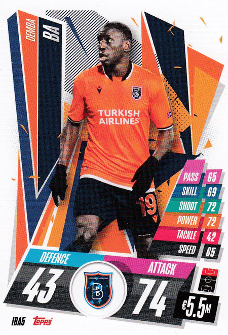 #IBA5 Demba Ba (İstanbul Başakşehir) Match Attax Champions League 2020/21