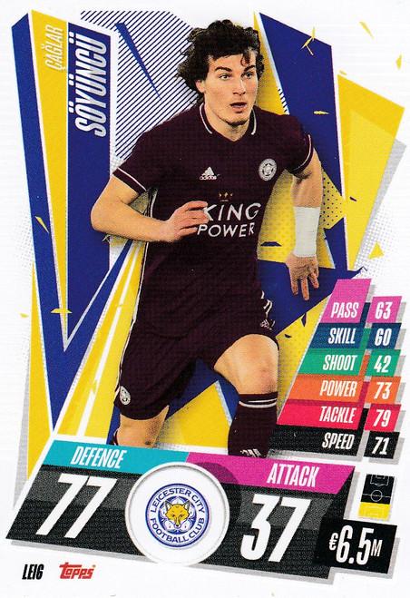 #LEI6 Çağlar Söyüncü (Leicester City) Match Attax Champions League 2020/21