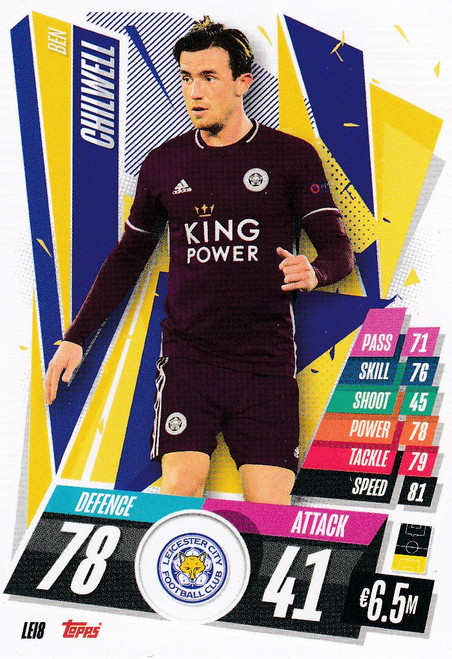#LEI8 Ben Chilwell (Leicester City) Match Attax Champions League 2020/21