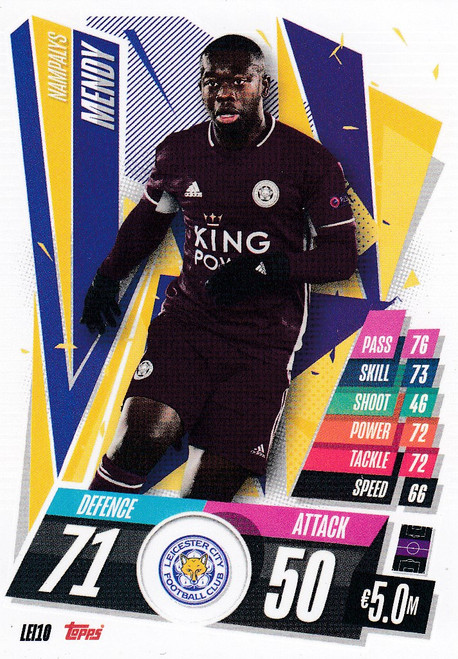 #LEI10 Nampalys Mendy (Leicester City) Match Attax Champions League 2020/21