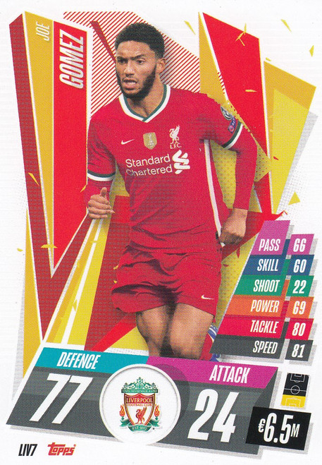 #LIV7 Joe Gomez (Liverpool FC) Match Attax Champions League 2020/21