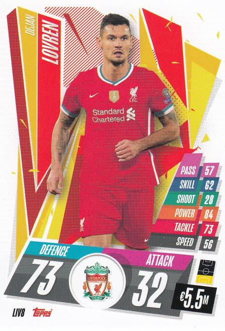 #LIV8 Dejan Lovren (Liverpool FC) Match Attax Champions League 2020/21