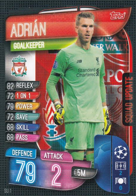 #SU1 Adrian (Liverpool FC) Match Attax EXTRA 2019/20