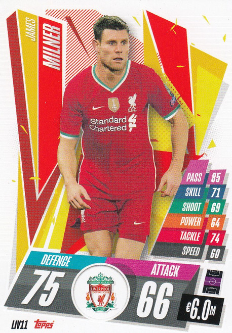 #LIV11 James Milner (Liverpool FC) Match Attax Champions League 2020/21