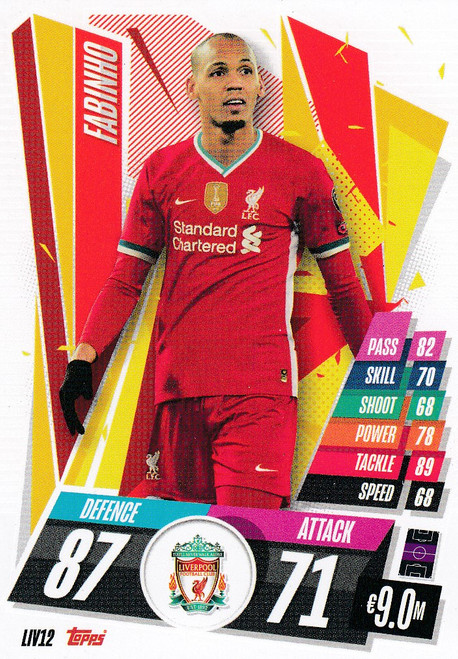 #LIV12 Fabinho (Liverpool FC) Match Attax Champions League 2020/21