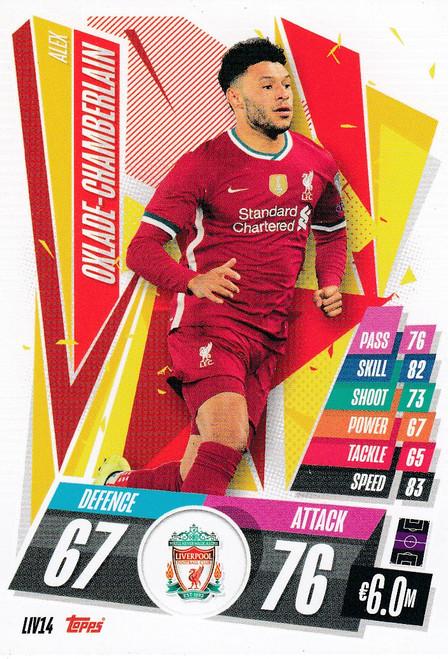 #LIV14 Alex Oxlade-Chamberlain (Liverpool FC) Match Attax Champions League 2020/21